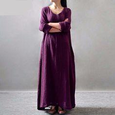 Dark Purple Plus Size Maxi Dress