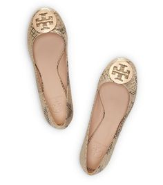 Tory Burch Spotted Reva Ballet : Women's Trend: Nude Shoes