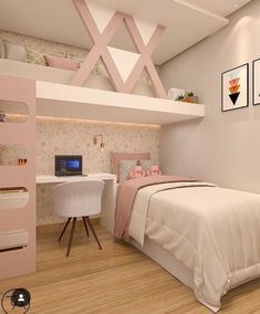 20 ideas for girl's room 27 Girl Bedroom Designs me . ideas - creative ideas - 20 ideas for girl& room 27 Girl Bedroom Designs me … ideas – creative ideas - Girl Bedroom Designs, Bedroom Design, Bedroom Decor, Girl Room, Cute Bedroom Ideas, Small Apartment Bedrooms, Room Design, Room Decor, Stylish Bedroom