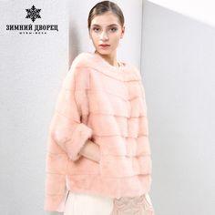2017 autumn and winter new Fashion Slim mink coat women fur coats Short mink fur coat O-Neck fur WINTER PALACE