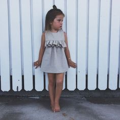 Best 9 Image of Barefoot Frill Tunic – SkillOfKing. Baby Dress Design, Baby Girl Dress Patterns, Little Girl Dresses, Little Girl Fashion, Toddler Fashion, Kids Fashion, Baby Frocks Designs, Sewing Kids Clothes, Look Girl