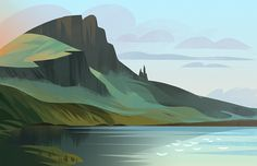 photo study of The Storr, Isle of Skye, Scotland. by Tinysnails Illustration by Chie