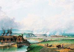 """Patrimonio Industrial Arquitectónico: Pintura """"Cyfarthfa Ironworks"""""""