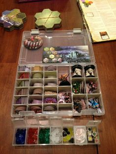 Nice arkham horror ancient one holder fro crafthulhu for Board game storage solutions
