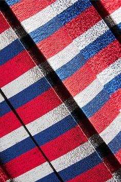 Gucci - Pleated Striped Silk-blend Lamé Midi Skirt - Blue - IT42