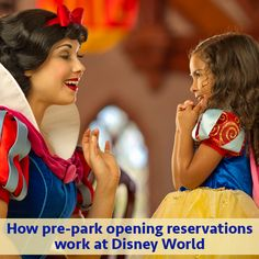 How breakfast reservations work at Disney World including transportation information