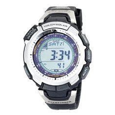Casio Mens PAW1300-1V Pathfinder Multi-Band Solar Atomic Black Watch