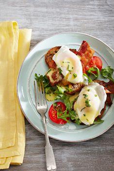 BLT Eggs Benedict #eggs #FamilyCircleHealthyFamilyDinners #breakfast