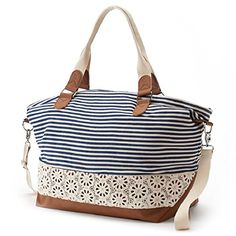 Candie's Lily Striped & Floral Convertible Weekender Bag (Blue) Candie's http://www.amazon.com/dp/B01132N8JI/ref=cm_sw_r_pi_dp_Q0dTvb047SPXK