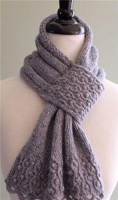 knit scarf...