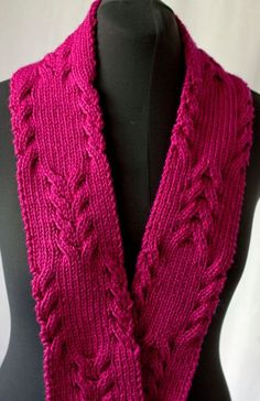 Free Knitting Pattern for Reversible Cabled Scarf