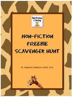 Non-Fiction Text Features Scavenger Hunt #TPT #FREE