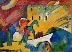 colin-vian: Wassily Kandinsky, Improvisación, 1909. Óleo sobre lienzo, 94 x 130 cm, Musee National d´Art Moderne, Centre Georges Pompidou, Paris.