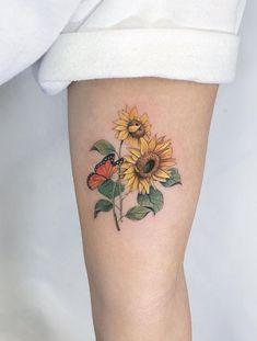 Super Cute Tattoo Ideas For Everyone – TheTatt Sunflower tattoo – Fashion Tattoos Bad Tattoos, Mini Tattoos, Finger Tattoos, Cute Tattoos, Unique Tattoos, Body Art Tattoos, Small Tattoos, Sleeve Tattoos, Tattos