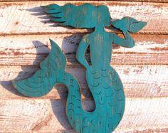 Beach Crab Sign Wooden Giant Wall Art Beach Coastal Sign