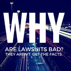 Are lawsuits really that bad? No. See why. #Phoenix   #Arizona    Let me revise the question:  Why are lawsuits bad?  Answer (this is simple):  Lawsuits are not bad.  Insurance companies just want you to think this.  Let's discuss a bit of history......  Keep Reading: - http://www.zacharlawblog.com/2015/05/are-lawsuits-really-that-bad-no-see-why.html
