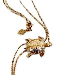 Vintage Turtle Necklace Bolo Lariat Avon by WeeLambieVintage, $16.00