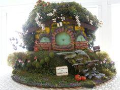 hobbit house diorama, hobbiton ooak, fantasy house fairy garden hobbit hole TODAY SALE!