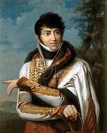Maurice Dupin de Francueil, le père de George Sand, en uniforme d'officier de l'armée impériale.