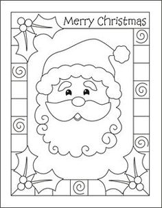 christmas coloring cards for kids printable free coloring cards santa christmas coloring pages - Santa Coloring Pages Printable Free