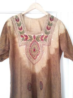 Vintage Earthy Bohemian Embroidered Lounge by JulesCristenVintage, $34.00
