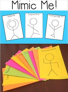 A FUN movement activity to use during transitions or for a brain break! Printable cards or use inside or outside, and a full page option to display on the LCD! $