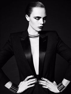 Cara Delevingne makes a triumphant return to modelling in this stunning Yves Saint Laurent campaign  - DigitalSpy.com