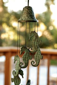 SPI Home 30486 Seahorse Wind Chime: Patio, Lawn & Garden