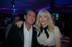 InList co-founder Michael Capponi with Courtney Love at the Black's gala.