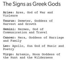 Greek gods pt.1 Moon Goddess, God Of War, Greek Gods, Astrology Signs, Horoscope, Gemini, Leo, Zodiac, Cancer