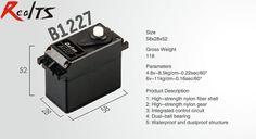 RealTS One piece Batan B1227 11kg dual ball bearing waterproof servo for rc car rc boat rc airplane #Affiliate