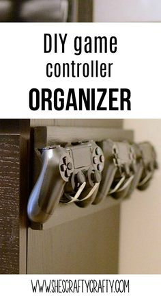 DIY video game controller organizer, holder