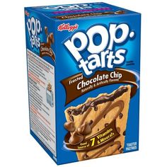 Pop-Tarts, (Semi-Frosted) Chocolate Chip, 8-Count Tarts (Pack of 12) ($54) ❤ liked on Polyvore featuring food, food and drink and groceries