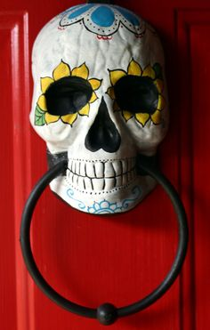 Dia de los Muertos/Day of the Dead ~door knocker