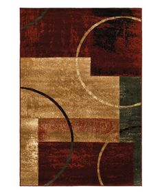 Love this Red & Beige Color Block Plush Grace Area Rug on #zulily! #zulilyfinds