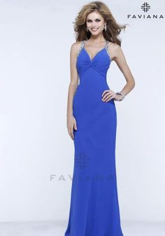 Faviana Dress 7309 at Peaches Boutique