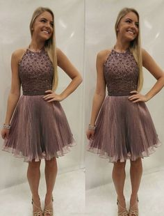 Beaded/Beading Prom Dresses, Purple A-line/Princess Prom Dresses, Short Purple Prom Dresses, 2017 Homecoming Dress Sexy Halter Beading Short Prom Dress Party Dress Pretty Homecoming Dresses, Princess Prom Dresses, Dresses Short, Backless Prom Dresses, A Line Prom Dresses, Beautiful Prom Dresses, Cheap Prom Dresses, Prom Party Dresses, Sexy Dresses
