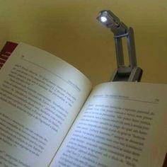 Mini luminária portátil para livros e kindle