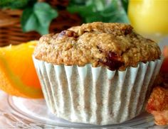 Low-Fat Apple Orange Oat Bran Muffins