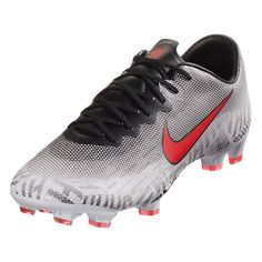 huge selection of a9d09 868b9 Nike Mercurial Vapor XII Pro FG Soccer Cleat White Red Black-12.5 Black
