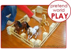 DIY Play Fence to keep all those toy horses corralled.