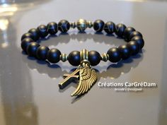 Shamballa bracelet tibétain homme croix et aile d'ange bronze : Bijoux pour hommes par shamballa-s-cargredam1