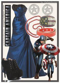 Captain America | The Avengers Ballgown Series by chelsealauren10