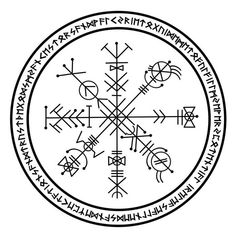 Galdrastafir - - Hello is it ok to combine a vegvisir and ægishjálmur in a tattoo? Like connect them with lines Ægishjálmur & Vegvísir Tattoos Due to the non-repetitive structure of the end glyphs in Vegvísir, no, you. Rune Symbols, Magic Symbols, Viking Symbols, Ancient Symbols, Egyptian Symbols, Simbolos Tattoo, Norse Tattoo, Viking Tattoos, Wiccan Tattoos