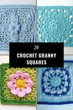 A compilation of amazing and free crochet granny squares to celebrate Granny Square Day. You can choose from 26 amazing crochet granny square patterns full of texture, lacy stitches or full of colour. Crochet Square Blanket, Crochet Blocks, Granny Square Crochet Pattern, Crochet Squares, Crochet Granny, Granny Squares, Crochet Patterns, Quick Crochet, Crochet Basics