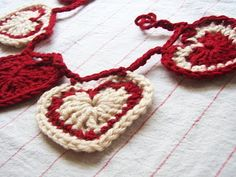 For Megan. Crochet heart garland for Valentine's Day--one of my favorite days!