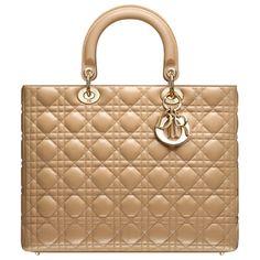 b63e1fa30609 Large Lady Dior Bag in Beige Leather