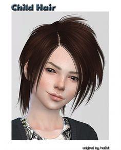 HA2D converted hair for child at ShojoAngel via Sims 4 Updates