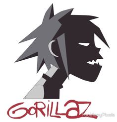 #Gorilaz Powerpuff Girls Villains, Gorillaz Art, Jamie Hewlett, Band Logos, Bumper Stickers, Band Stickers, Imagine Dragons, Beautiful Voice, Cool Bands