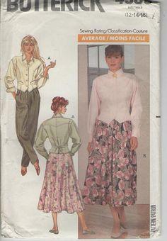 ON SALE  1980s Butterick Sewing Pattern No 4385 by jennylouvintage